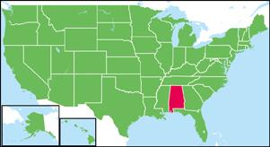 アラバマ州の地図・白地図 | Sta...