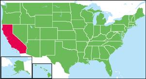 カリフォルニア州の地図・白地図...