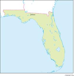 フロリダ州の地図・白地図 | Sta...