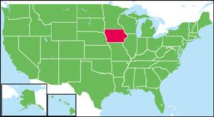 アイオワ州の地図・白地図 | Sta...