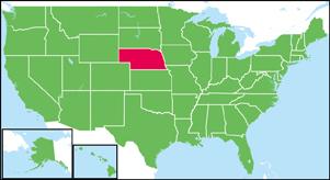 ネブラスカ州の位置
