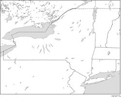 ニューヨーク州の地図・白地図 |...