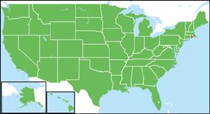 ロードアイランド州の地図・白地...