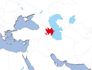 アゼルバイジャンの地図