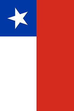 チリの国旗-縦用