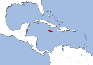 ジャマイカの地図