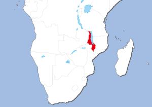 マラウイの地図