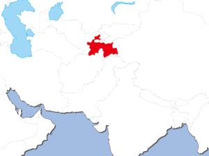 タジキスタンの地図