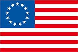 最初の頃のアメリカ合衆国の国旗