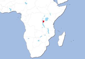 ブルンジの地図
