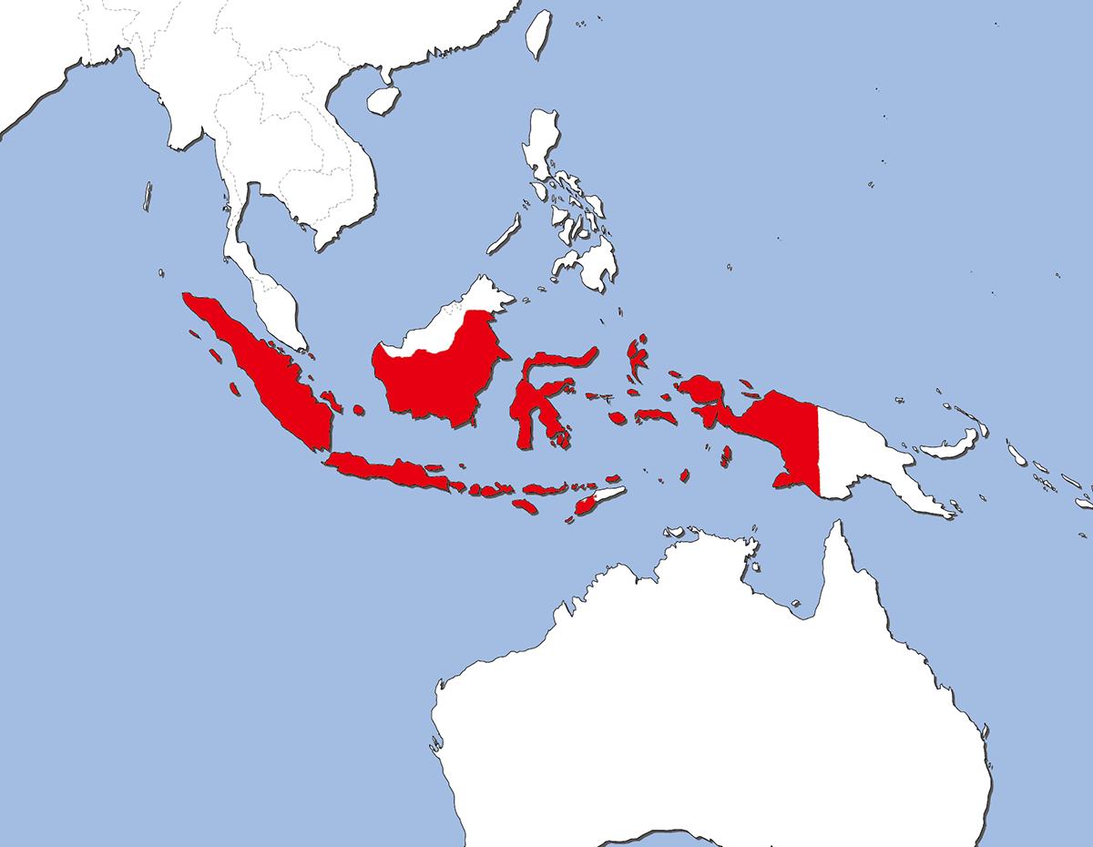 インドネシアの国旗 | 意味やイラストのフリー素材など – 世界の国旗 ...