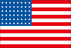 星が48のアメリカの国旗