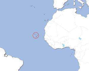 カーボベルデの地図