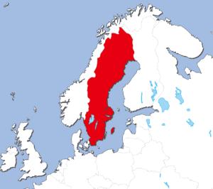 スウェーデンの地図