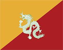 ブータンの国旗1949-1956