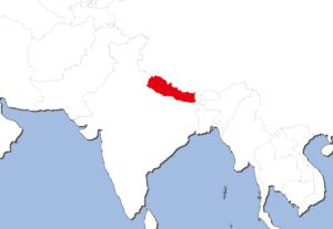 ネパールの地図