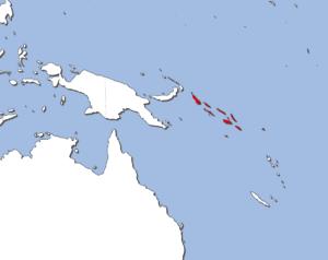 ソロモン諸島の地図