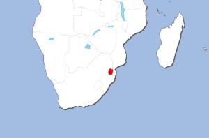 エスワティニ王国の地図
