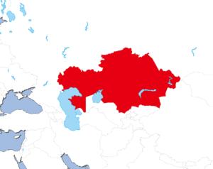 カザフスタンの地図