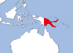 パプアニューギニアの地図