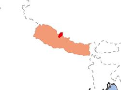 ムスタン王国の位置