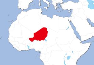ニジェールの地図