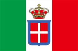 サボイ家の紋章の入った国旗