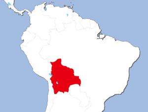 ボリビアの地図