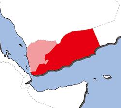 南イエメン地図