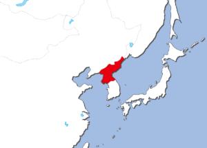北朝鮮の地図