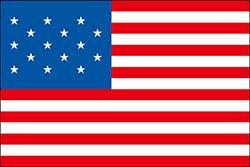 ストライプが15のアメリカの合衆国の国旗