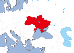 ウクライナの地図