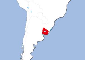 ウルグアイの地図