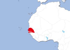 セネガルの地図