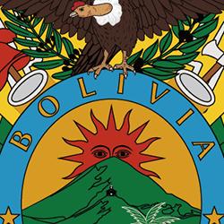 ボリビア国旗の文字
