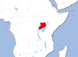 ウガンダの地図