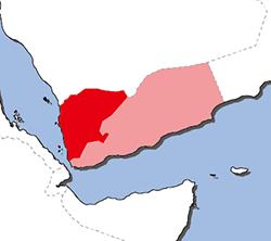 北イエメン地図