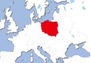 ポーランドの地図