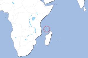 コモロ諸島の地図