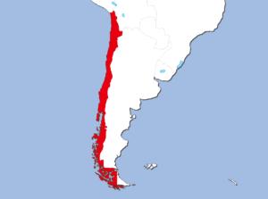 チリの地図