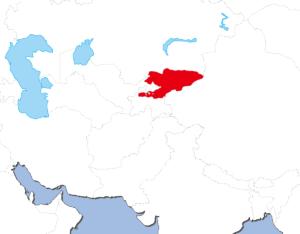 キルギスの地図
