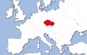 チェコの地図