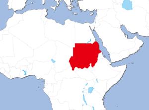 スーダンの地図