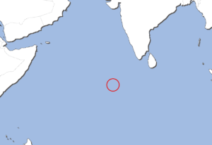 モルディブの地図