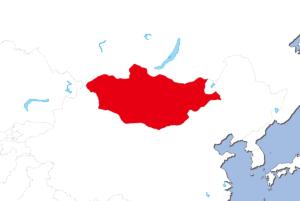 モンゴルの地図
