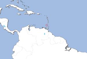 グレナダの地図