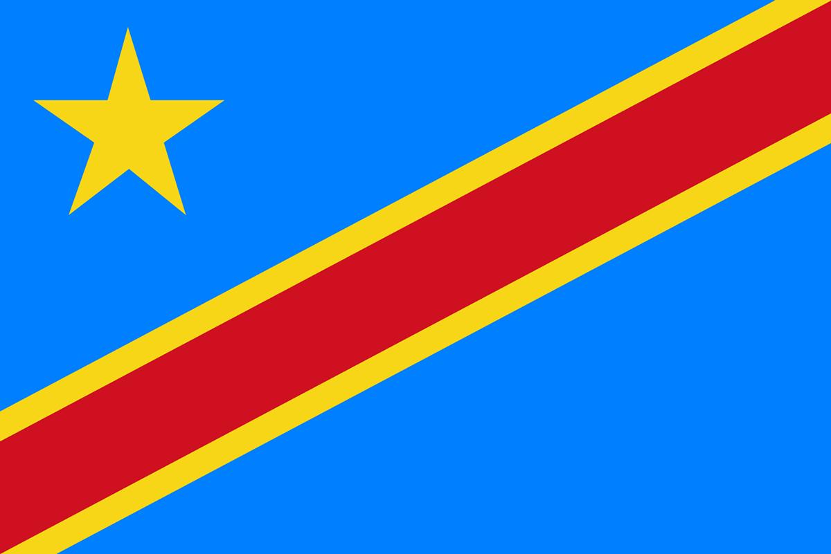 コンゴ民主共和国の国旗