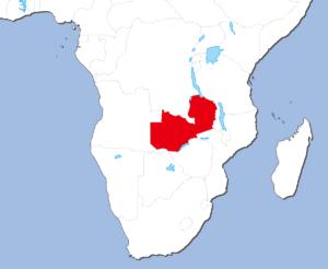 ザンビアの地図
