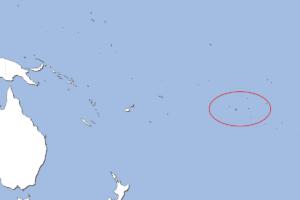 クック諸島の地図