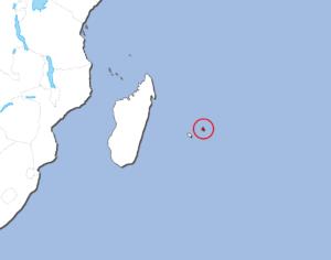 モーリシャスの地図